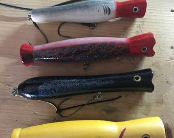 Custom color top water lures