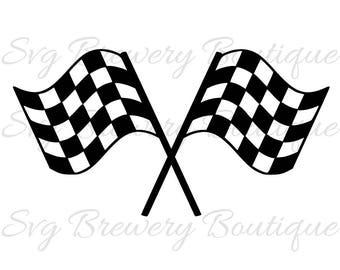 Racing flag, race SVG (layered), PNG, DXF format cricut, silhouette studio, vinyl decal, t shirt design, scrapbooking, stencil template
