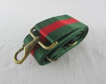 Red/Green Purse Strap Crossbody Bag Strap