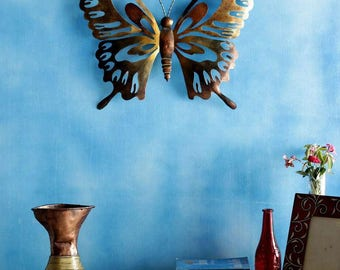 Copper Iron Design and crafted Contemporary Butterfly Wall Decor