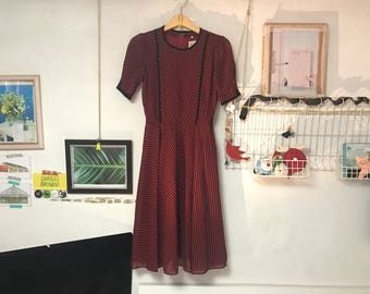 Red stripe vintage dress