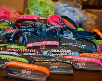 BecuzIcare11 KINDNESS TRAVELS BRACELETS