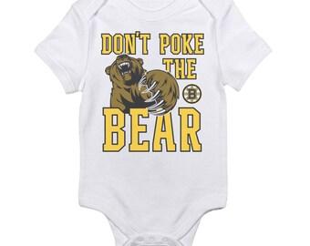 Boston Bruins Don't Poke the Bear Baby Onesie