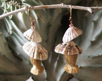 Limpet Tassel Earrings