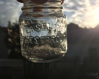 Vintage early 1900s Vaseline jar