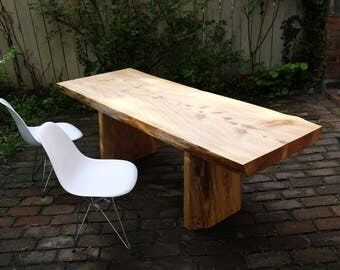 Dining table solid from a root (Douglas-fir)