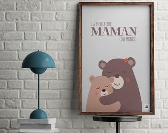 Displays deco child best MOM, mother's day gift