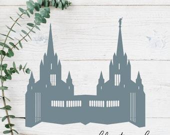 San Diego, California LDS Temple Cut File - Digital Download - SVG, Vector, Cricut, Silhouette, Clip Art