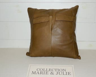 Decorative cushion leather