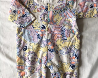Vintage mothercare 80s/90s  padded romper with colar 70cm