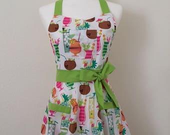 Vintage tropical coconut apron