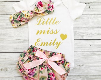 Coming Home Outfit, Baby Announcement Bodysuit, Birth Announcement, Newborn Girl, Coming Home Outfit Girl