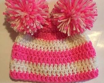 Sweet Newborn Baby Striped Hat