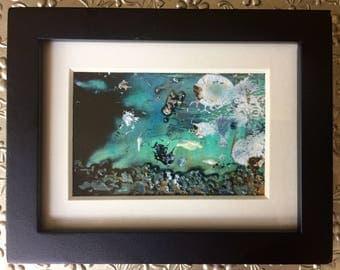 Miniature Abstract Painting - Original Art - Framed