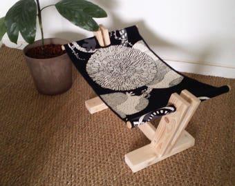 Wooden cat hammock