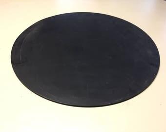 "Black, Circular 60 Durometer Neoprene Rubber, 20"" diameter, 1/4"" thick"