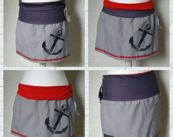 Rock grey red points anchor skirt contact rib