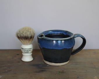 Black and Blue Wet Shaving Brush Scuttle - UK