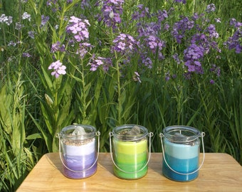 Outdoor Hanging candle lantern set of three