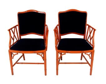 Vintage Chippendale Chairs (pair)