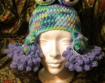 Octopus Beanie Tentacle Fantasy Creatures Sea Creature  Under the Sea Cephalopod Crochet Squid Hat Stocking Hat UNISEX