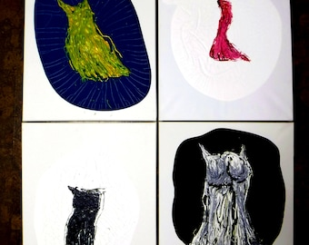 Abstract Dresses Fine Art Canvas Paintings