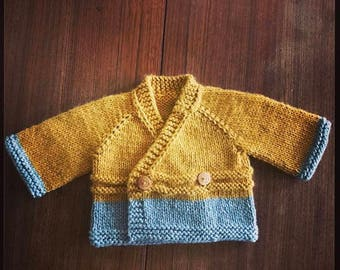 Hand-knit baby cardigan