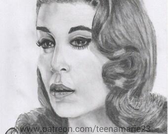 Girl in graphite