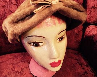 1960's Faux Fur Ladie's Winter Hat.