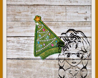 CHRiSTMAS TREE CeNTER (Add On Only ~ 1 Piece) ITH Mr Miss Mouse Ears Headband ~ INSTANT Machine Embroidery Download Design by Carrie