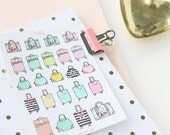 Travel Planner Stickers, Sampler, Travel Stickers, Suitcases, Luggage, Road Trip, Vacation, Holiday, Work, Flight, Travel Cases TRV2