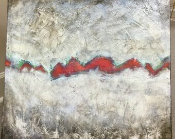 Fissure- Mixed Media Abstract Painting