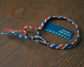 Airmail Striped Friendship Bracelet