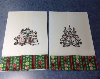Blackwork - Gingerbread Houses 1 & 4