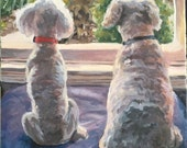 """Custom Pet Portrait Painting on gallery canvas 10""""x10"""" for Beth"""