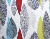 Vintage 50s Barkcloth Fabric Atomic  Original Midcentury