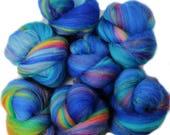 Luftballon battlings -- mini batts (2 oz.) organic polwarth wool, bamboo, silk, sparkle.