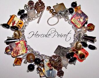 HERCULE POIROT Mystery Charm Bracelet