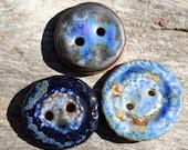Handmade Ceramic Buttons Set of Three