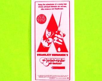 Clockwork Orange Movie Poster Arts Series Original Stanley Kubrick Ultra Violence Cult Classic Film Waterproof Vinyl Sticker - More Styles