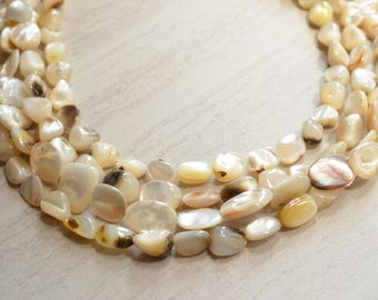The Seychelles- Natural Mother Pearl Statement Necklace