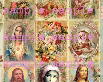 Holy Cards Instant Digital Download > Antique Holy Religious Prayer Card > Printable Religious Collage Sheet > Victorian Floral Prayer Cards