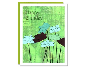 NEW // Happy Birthday Card // Happy Birthday //  Map Art Card // Friend Birthday // Mom Birthday Card // Rachel Austin
