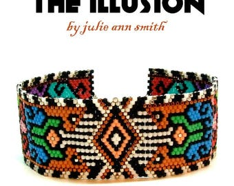Julie Ann Smith Designs THE ILLUSION Odd Count Peyote Bracelet Pattern