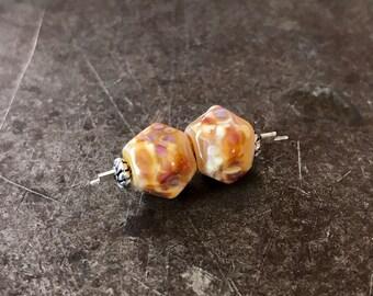 Petite Nuggets - Monet Autumn - Lampwork Beads