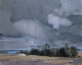 Stand at 4:00, Original Landscape Collage Painting on Panel, Stooshinoff