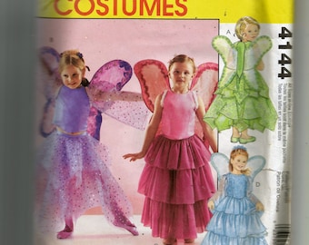 McCall's Child's Fairy Costumes Pattern 4144