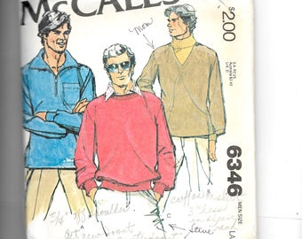 McCall's Men's Set of Tops for Stretch Knits Pattern 6346