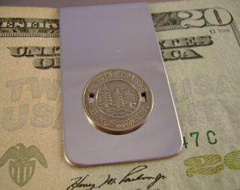 Vintage Authentic Seattle Washington Transit Token Money Clip Man Gift, Wedding, Groomsman Gift, Fathers Day Gift