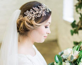 Pearl Clusters and Crystals Hair Vine, Sorcha
